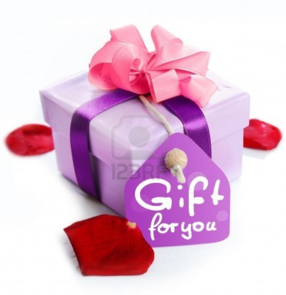 12640338-violet-gift-box-with-a-card-a-ribbon-and-the-words-gift-for-you-red-rose-leaves-isolated-on-white-ba